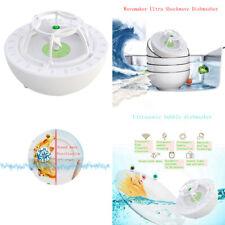 Portable Sink Ultrasonic Cleaner Dishwasher Usb Auto Washing Green 100x100x75mm