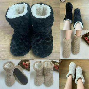 Womens Ladies Ankle boots booties sippers shoes size Winter Warm Indoor Outdoor