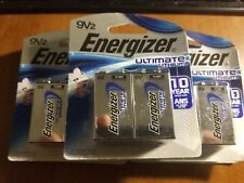 Energizer Ultimate Lithium 9V Battery 10 Batteries ~ 12/2027 Expiration ~ 9 Volt