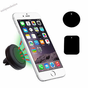 Magnetic Air Vent Mount Car Phone Holder Universal iPhone 7 Samsung HTC Cradle