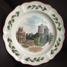 "Wedgwood Queen's Ware Christmas 1980 ""Windsor Castle"" Limited Edition Plate"