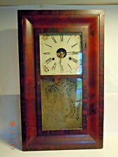New Haven Mahogany 30-Hour Weight Driven OG Shelf/Wall Clock c.1880's