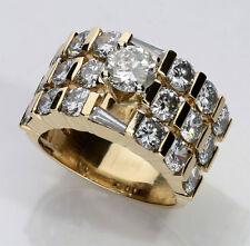 Anillo de compromiso diamante 14K oro amarillo 1 QUILATE brillante redondo