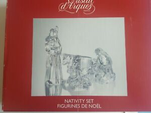 Vintage 4 Piece Crystal Nativity Set ~ Cristal d'Arques France ~ Complete in Box