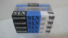 49 MAXELL S-LN 90  BLANK SEALED CASSETTE TAPES  SUPER PRECISION LOW NOISE