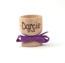 PERSONALISED WOODEN EGG CUPS, WEDDING FAVOURS Any Name