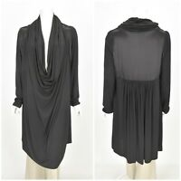 Womens BOHEME Danish Designer Dress Black Lagenlook Cowl Neck Plus Size 3 / XL
