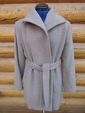 NEW NWT CALVIN KLEIN WOOL BLEND WRAP COAT TAUPE SIZE 8
