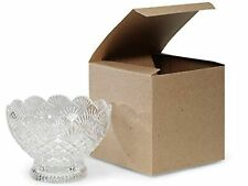 "Made in Usa 10-Count Recycled Brown Kraft Gift Boxes (6"" X 6"" X 6"") with Tuck."