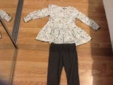 Baby GIRL TAGLIA 5-6 Anni Marks & Spencer Top & Leggings Outfit