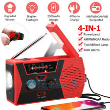 4in1 Emergency Solar Hand Crank AM/FM/NOAA/WB Radio LED Torch USB Charge 2020New