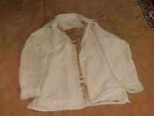 RON Chere Skin Men's Western Shirt Size Large L  Tan Sueded Luxe Long Sleeve