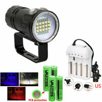 XPE LED Diving Flashlight Torch Lamp Photography Underwater Video Scuba Lamp