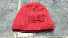 Baby girl red knitted winter hat size 0-6 mths by M&Co