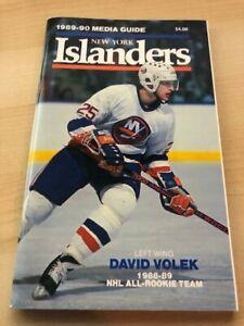 1989-1990 NEW YORK ISLANDERS NHL HOCKEY MEDIA GUIDE - Volek