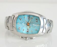 CHRONOTECH 7468m Light Blue Dial Chronograph Stahl Herrenuhr Datum 41mm