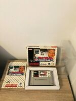 TROY AIKMAN FOOTBALL SUPER NINTENDO SNES PAL COMPLETO 100% + CASE TRASPARENTE