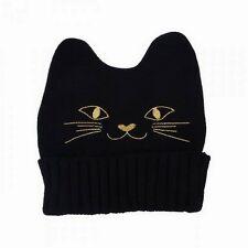 Bonnet chat enfant, fille et ado CHAT noir avec oreilles - N° 2 - NEUF