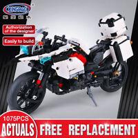 Xingbao Bausteine The Patrol Motorcycle Auto Motorrad Baukästen Weiß 1075PCS Toy