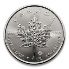 More details for 2021 silver maple leaf - 1 oz canadian silver bullion coin in prophila capsule