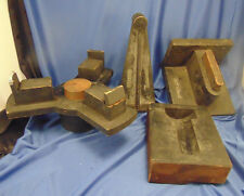 Vtg Architecture salvage wood 4 pc Simplex Wire & Cable Co. Industrial Wall art