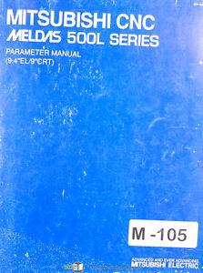 Mitsubishi CNC, Meldas 500L Series, Parameter Manual Year (1996)