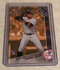 2017 TOPPS NOW #OSB-1 AARON JUDGE 2017 A.L. ROOKIE OF THE YEAR BONUS CARD