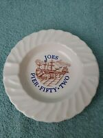 Vintage Joe's Pier Fifty Two Advertising Ashtray West 52nd St  New York City