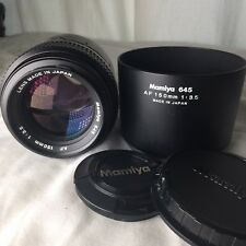 MAMIYA 645 AF 150mm f3.5 Lens in Excellent/NEW Condition w/hood & caps