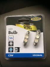 2 X BLUE LED Ring Automotive LED239HPB C5W 12V 11X38Mm High Power, FREE P&P