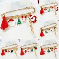 Fashion Tassel Enamel Brooch Pin Charm Unisex Women Men Christmas Jewelry Gifts