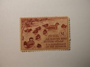 U.S. Stamp Scott #RW9 US Department of Agriculture Migratory Bird Hunting
