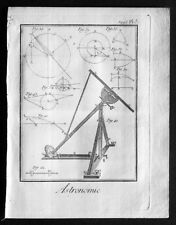 1760 Denis Diderot Antique Astronomical Print from Encyclop