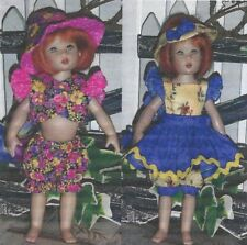 "Sewing Pattern fits 7.5"" doll  Riley Kish Tiny Betsy elf Lati Yellow dolls BJD*"
