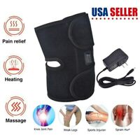Electric Knee Heat Pad Therapy Support Belt Self Heating Wrap Brace Pain Relief
