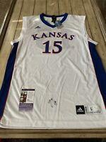 Mario Chalmers Autographed/Signed Jersey JSA COA Kansas Jayhawks