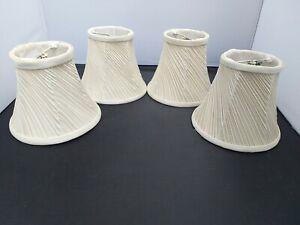 4 Vintage Small Lampshades Cream