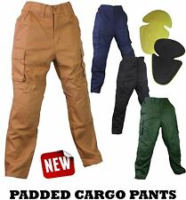 Motorcycle CARGO Pants Trousers Jeans with Protective Knee & Hip Padding