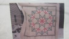 """""LOG CABIN - BROKEN STAR - PRE CUT - QUILT TOP"""" QUEEN SIZE - REDS & BURGUNDY"