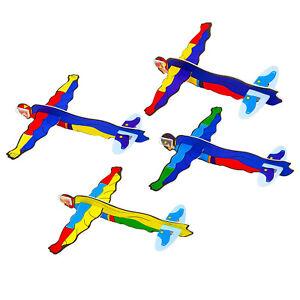 Super Hero Flying Gliders Kids Prizes Party Bag Fillers, Packs of 1-48