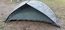 Military ICS ORC Improved Combat Shelter One Man Tent ACU with stakes used good