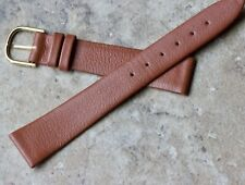 Extremely supple tan Tourneau 18mm Genuine Calf vintage watch band Made in Italy