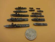 Vintage German 13 diff. Metal / Lead German Navy Warships - Loose & Nice