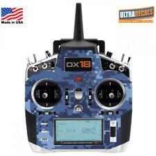 Navy Blue Camouflage Spektrum DX18 Transmitter Skin Wrap Decal Radio