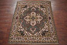 8X10 Heriz Serapi Persian Area Rug Hand-Knotted Oriental Wool Carpet 7.11 x 9.10