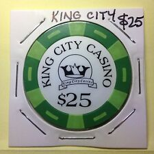 Casino chip / Token ~ $25 KING CITY CASINO