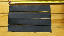 KANGAROO TAIL LEATHER veg tanned 1 piece at 480 x 75 mm strop band tag black