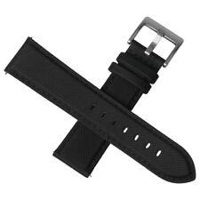 Sailcloth Premium Watch Strap Band Quick Release 20mm 22mm  Black