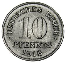 Germany Empire 10 pfennig 1918 coin KM#26 UNC
