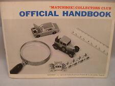 MATCHBOX LESNEY COLLECTORS CLUB OFFICIAL HANDBOOK